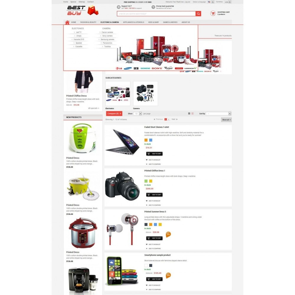 theme - Elektronika & High Tech - Responsive Best Buy Prestashop Theme - 5