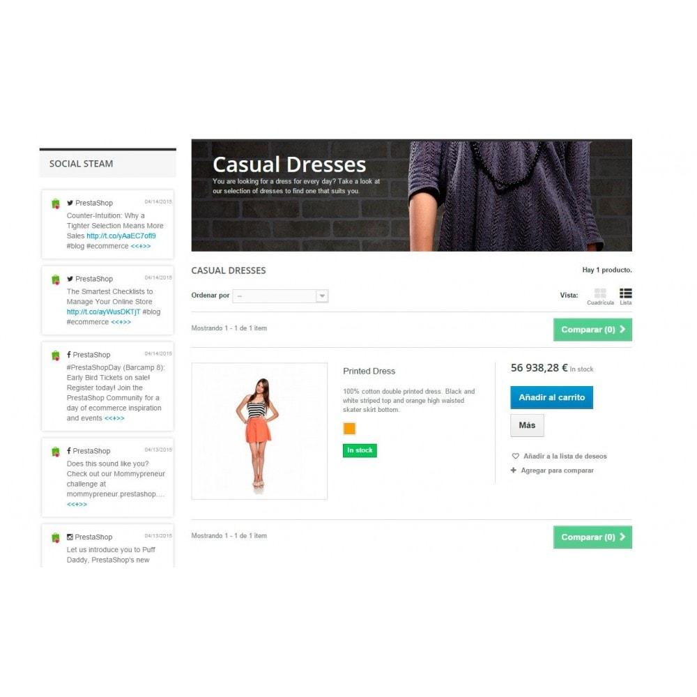 module - Widgety serwisów społecznościowych - Presta Social Stream - 7