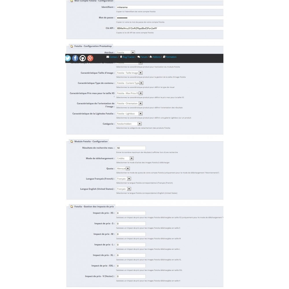 module - Visuels des produits - Fotolia Business API - 5