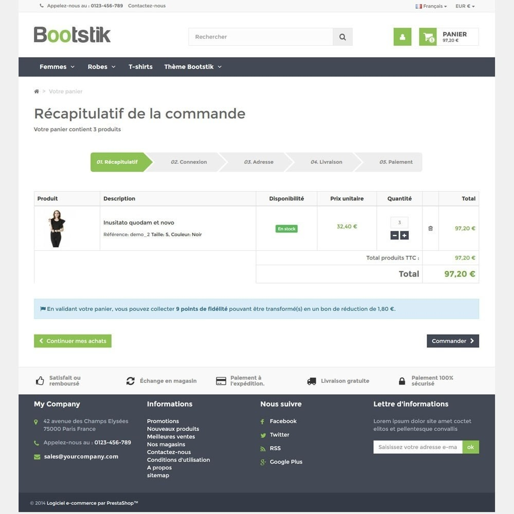 theme - Mode & Chaussures - Theme Responsive Bootstik - 7