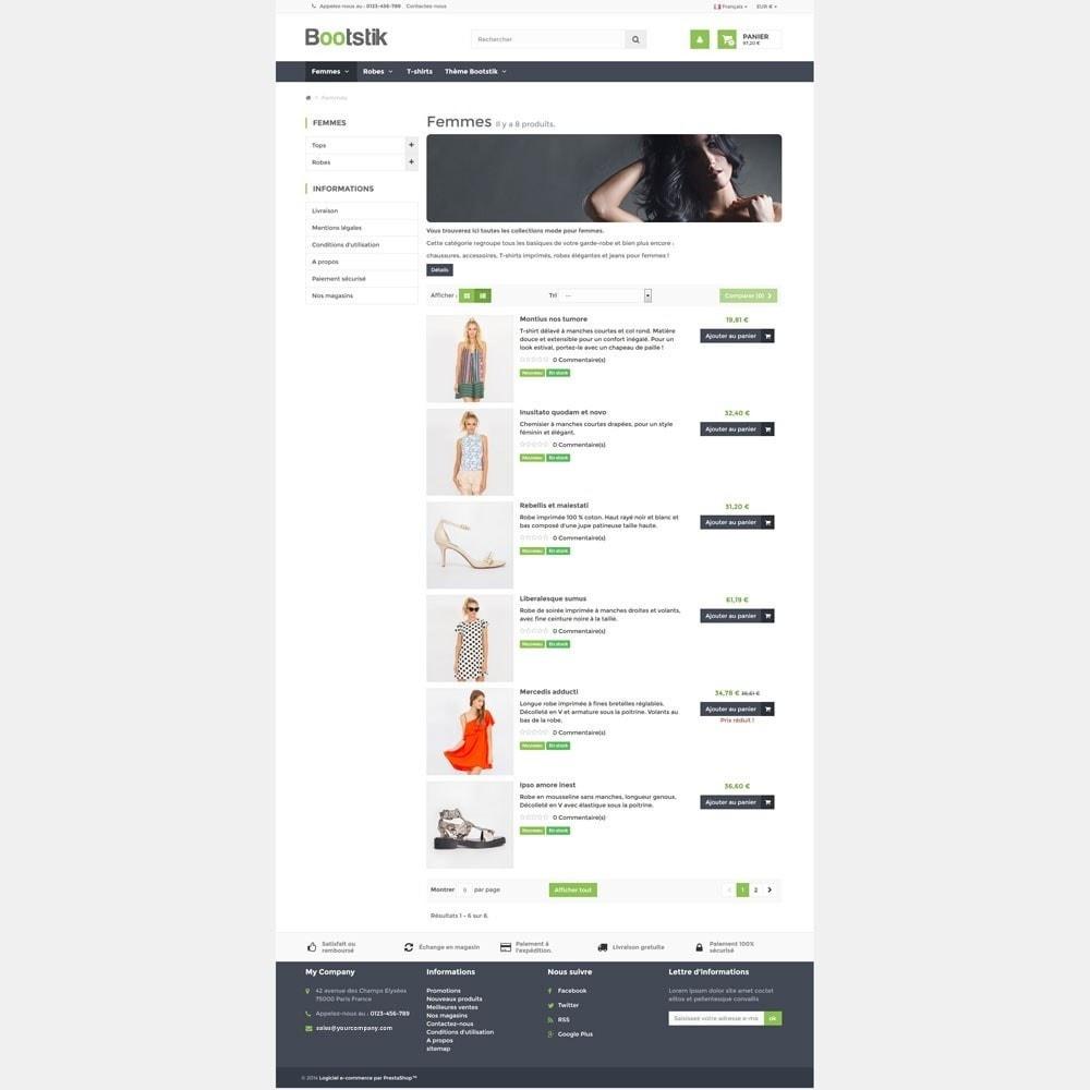 theme - Мода и обувь - Bootstik Responsive Theme - 4