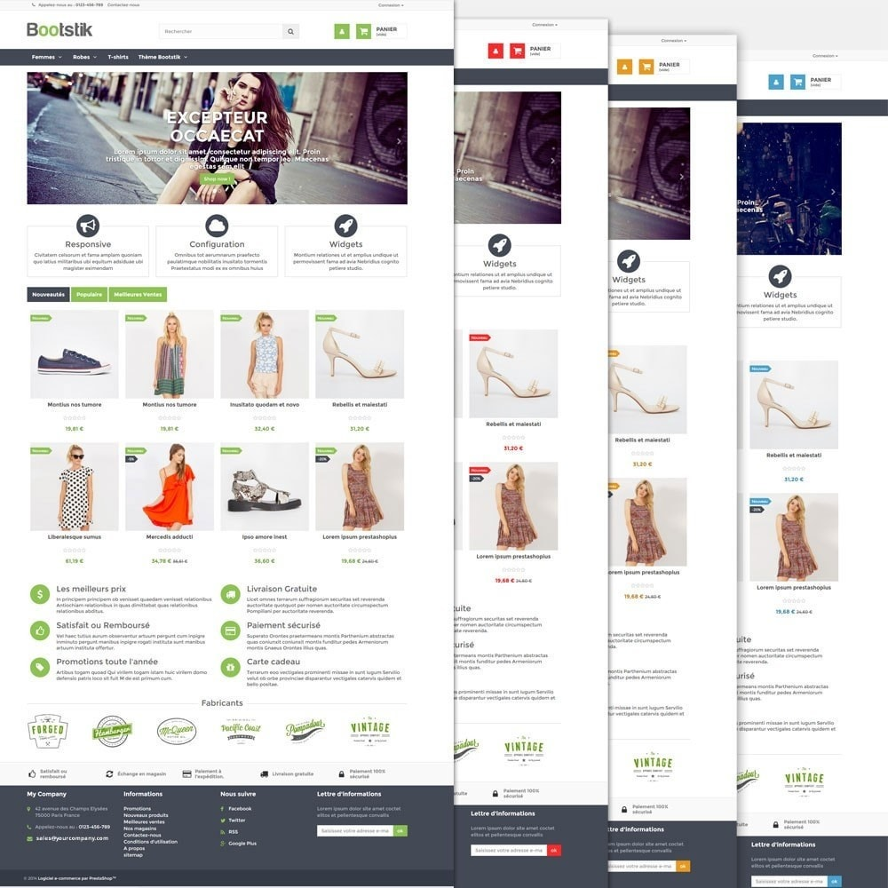 theme - Мода и обувь - Bootstik Responsive Theme - 3