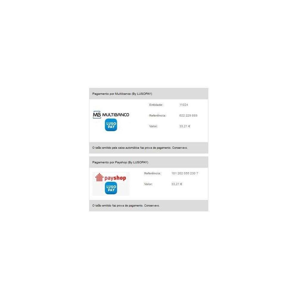 module - Pago en Tienda física (TPV físico) - Multibanco e Payshop by LUSOPAY - 3