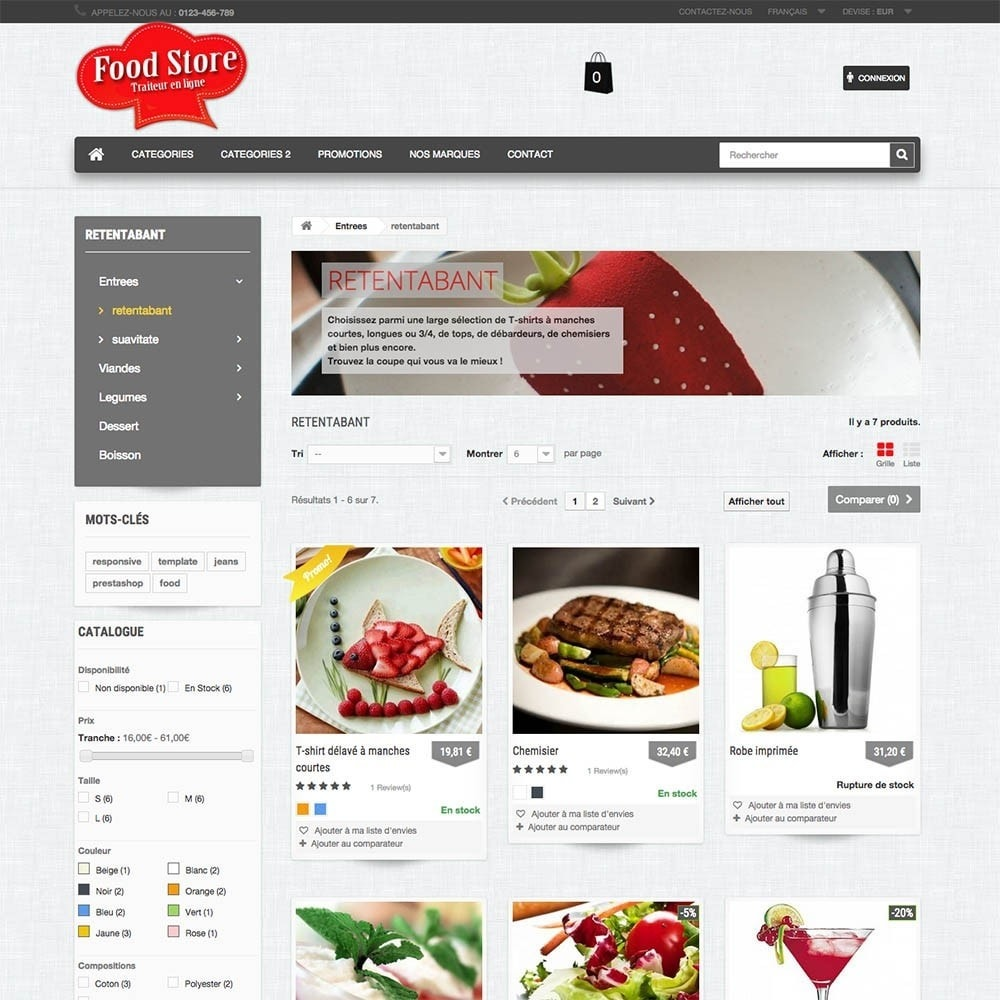 theme - Lebensmittel & Restaurants - FoodStore - 3