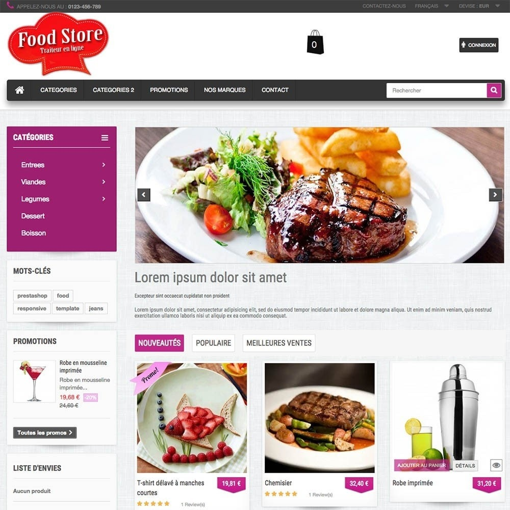 theme - Food & Restaurant - FoodStore - 7