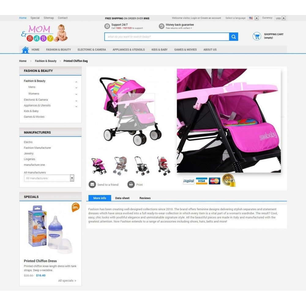 theme - Enfants & Jouets - Responsive Mom & Baby Prestashop Theme - 5