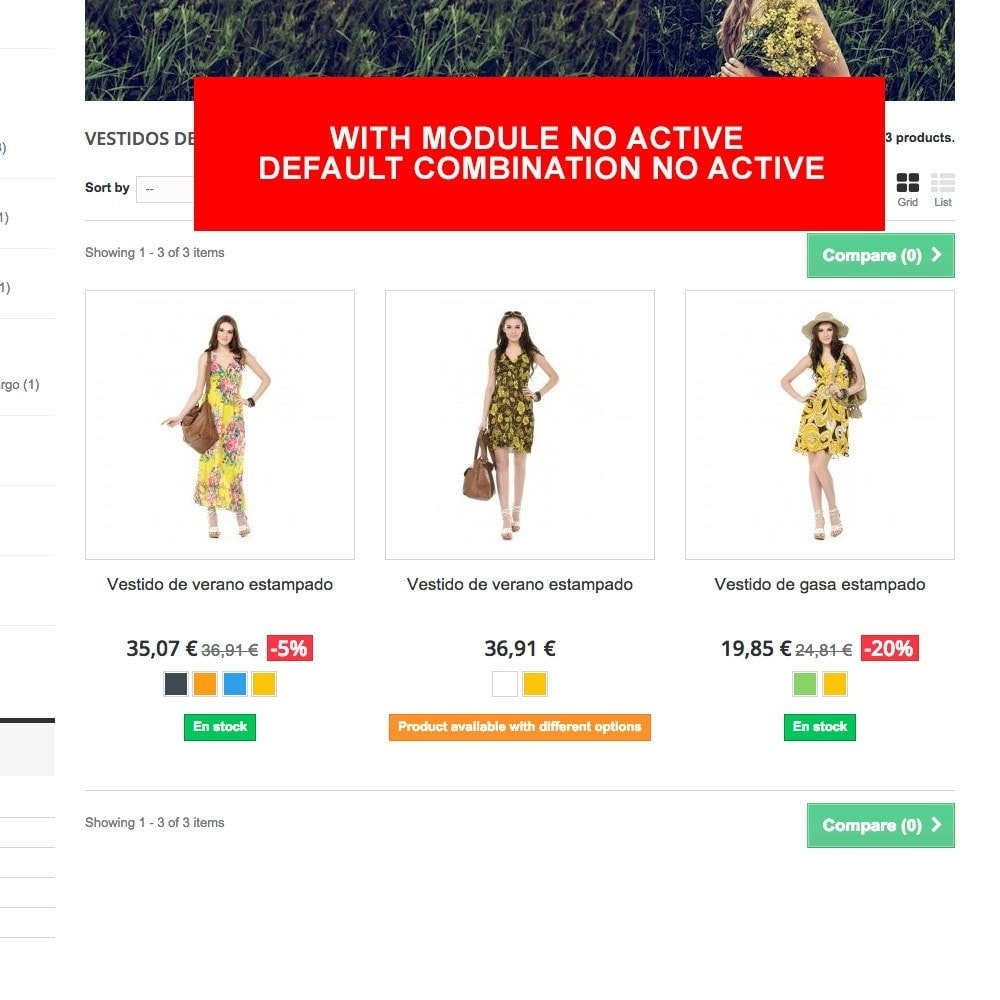 module - Combinations & Product Customization - Default combination always active - 4