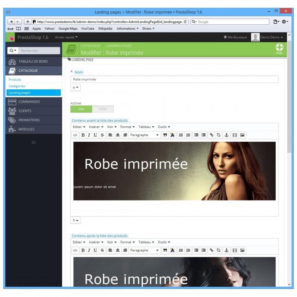 module - Personnalisation de Page - Landing Pages - 5