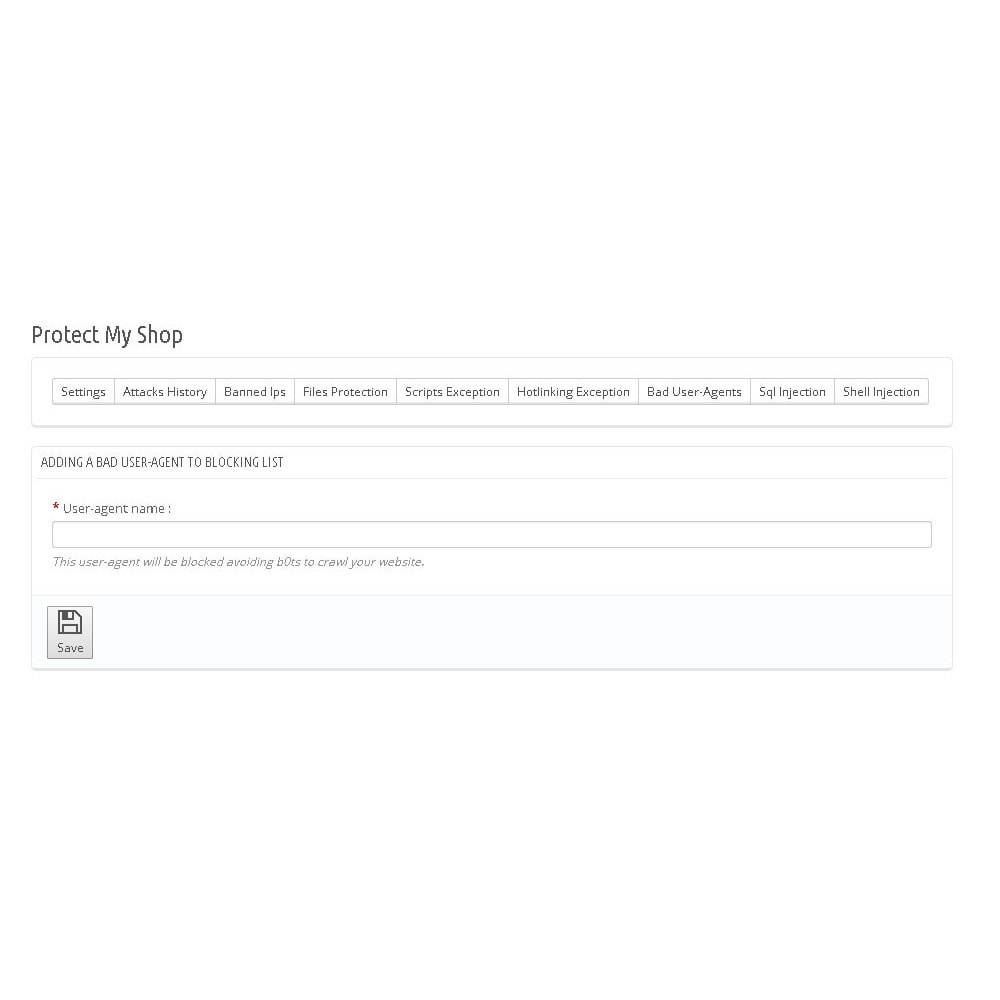 module - Безопасности и доступа - Protect My Shop - 8