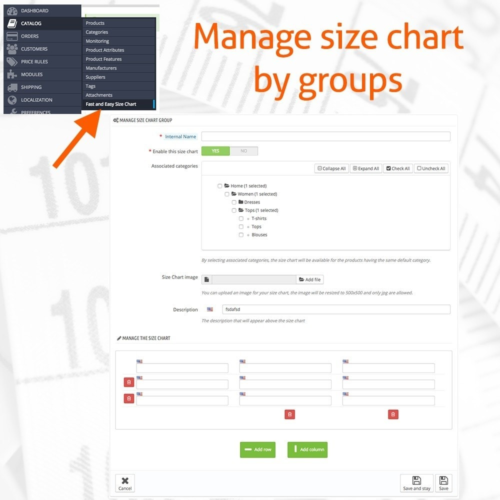 module - Sizes & Units - Fast and Easy Size Chart - 2