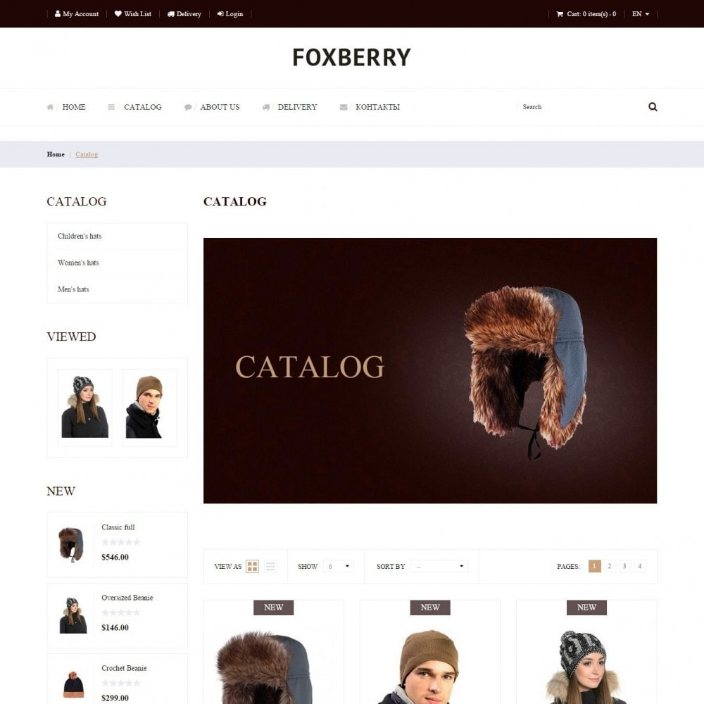 theme - Fashion & Shoes - Foxberry - Hats Store - 2