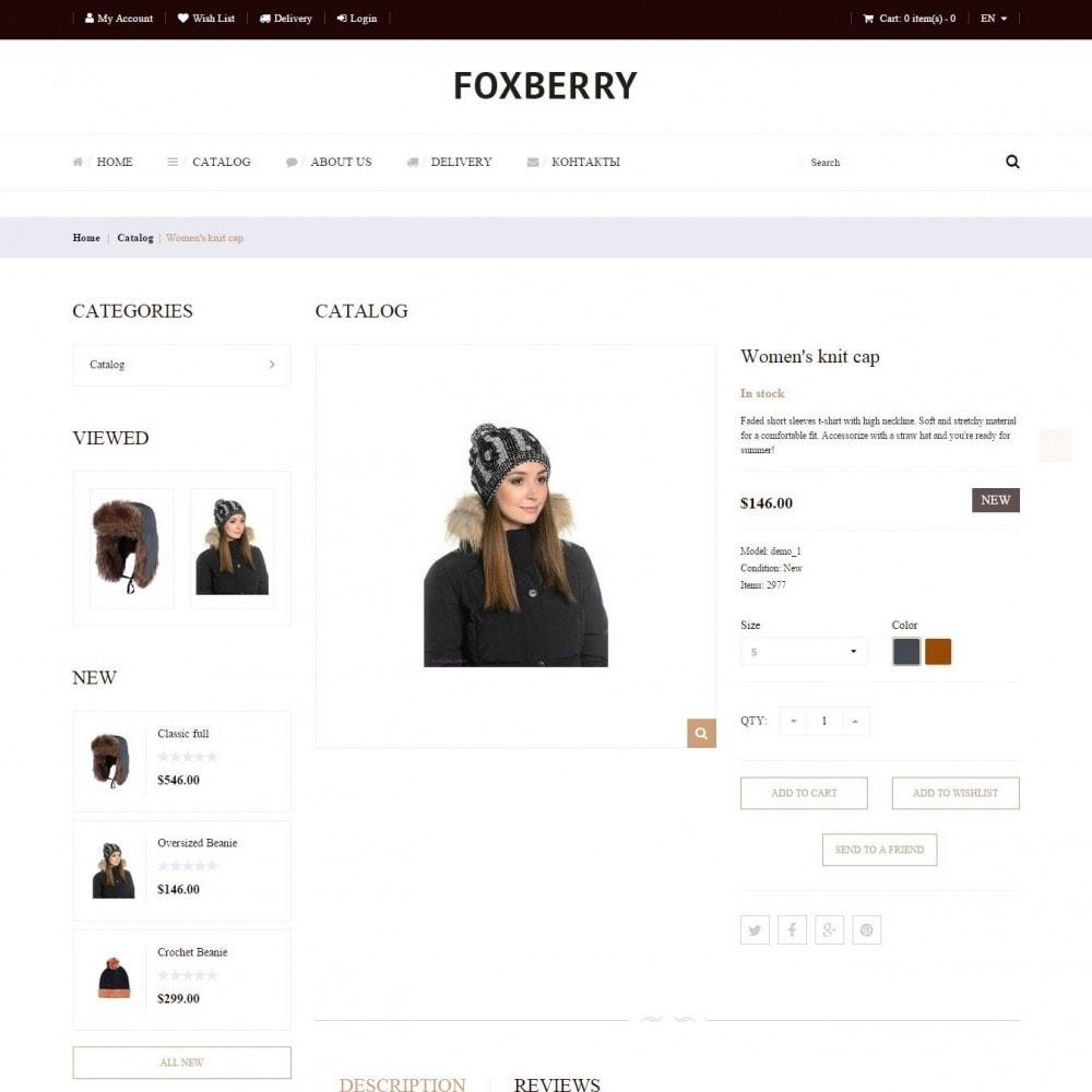 theme - Мода и обувь - Foxberry - Магазин Шапок - 4