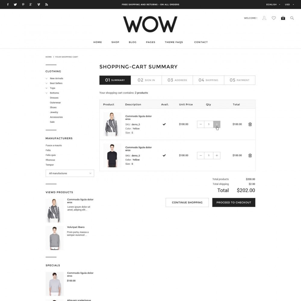 theme - Moda & Calzature - Wow - New Fashion Responsive PrestaShop - 5
