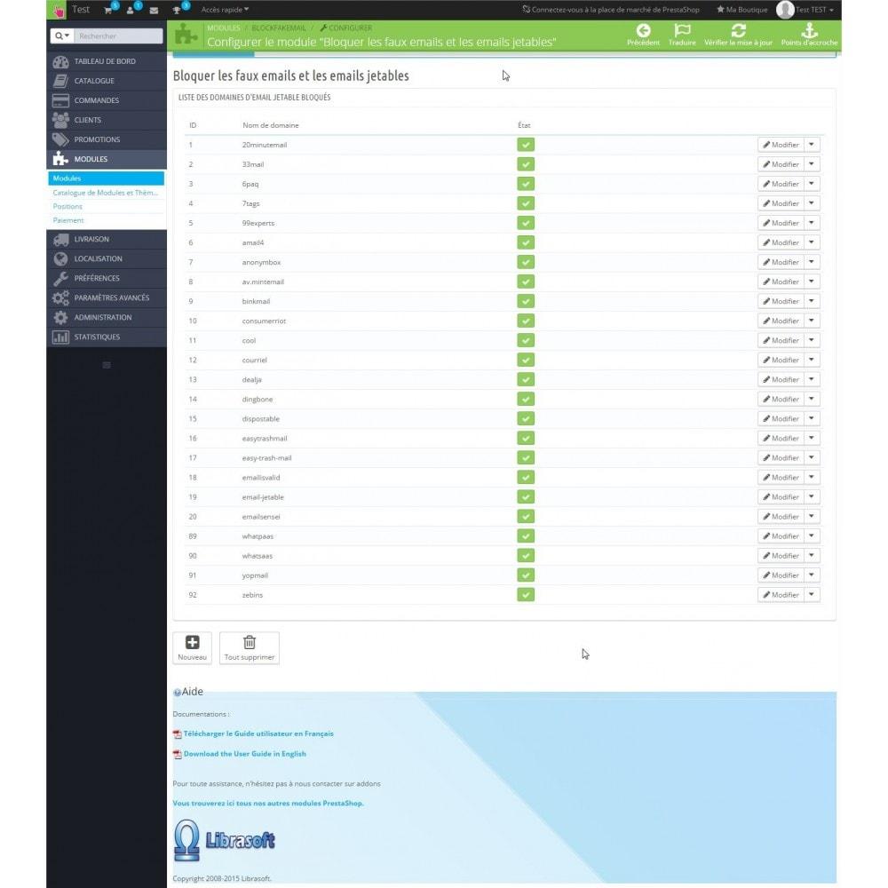 module - E-mails & Notifications - Blockfakemail - bloquez les mails jetables - 3