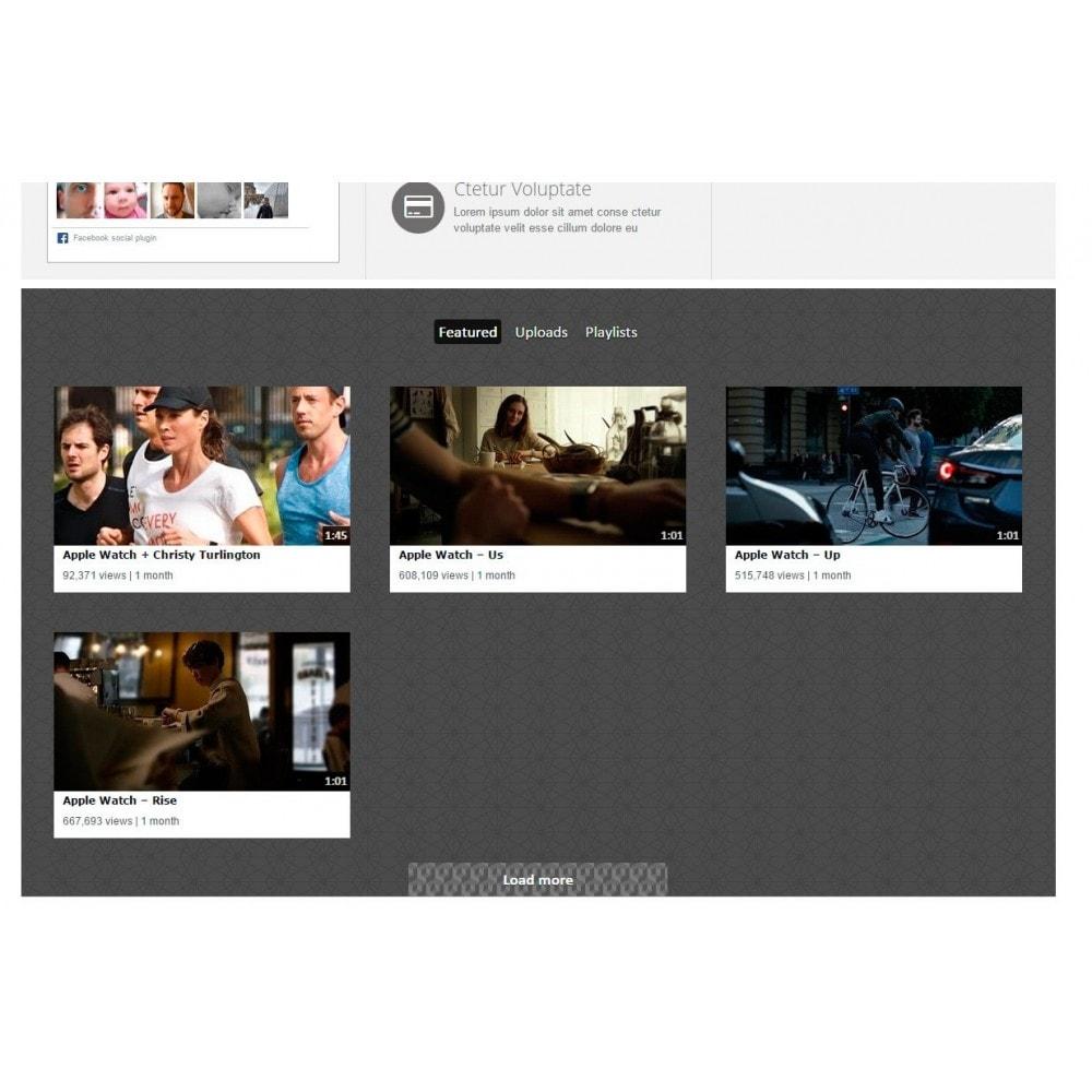module - Widgets réseaux sociaux - Youtube Wall - 7