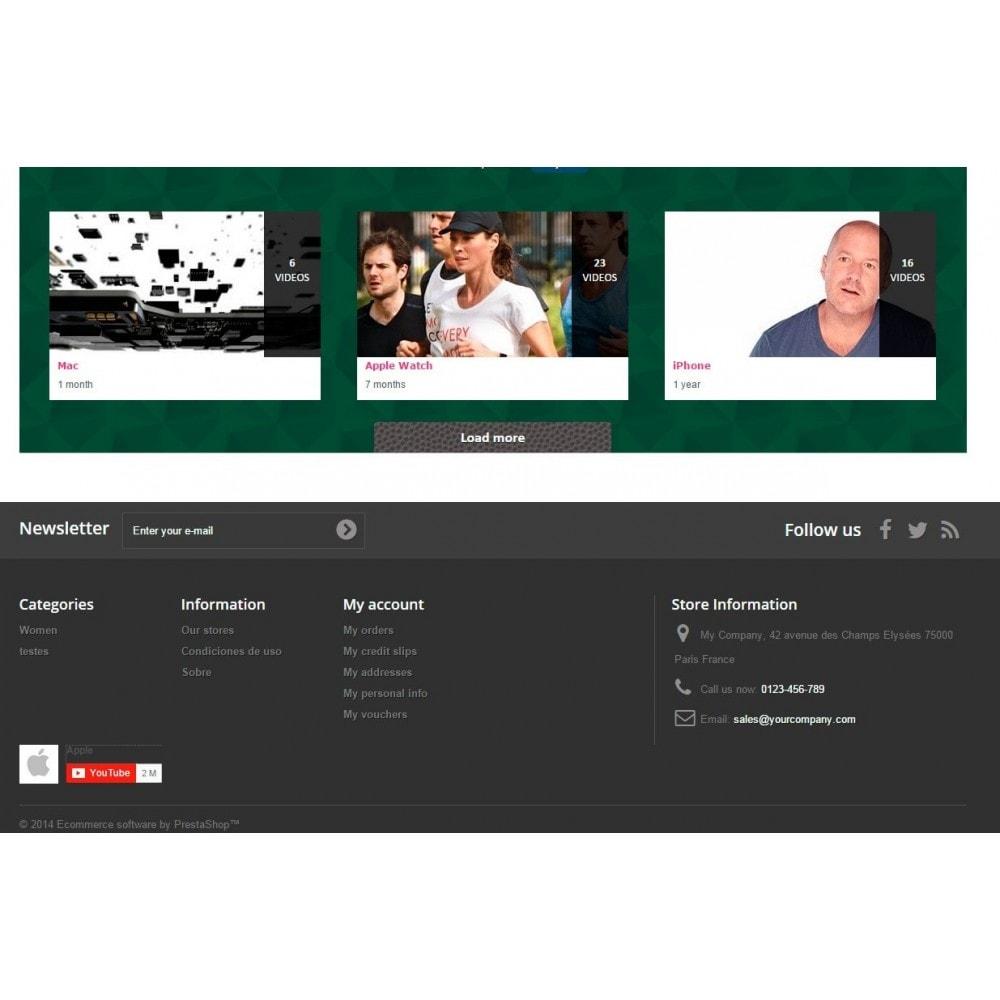 module - Widgets réseaux sociaux - Youtube Wall - 8