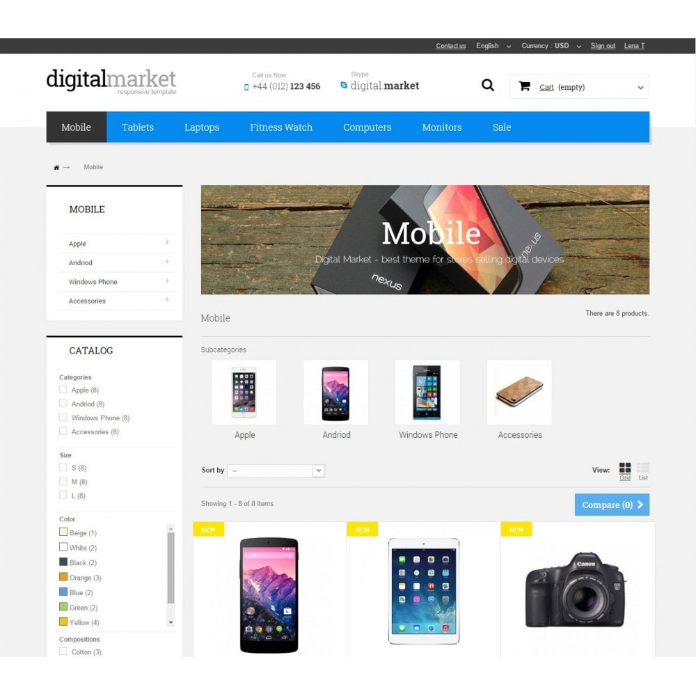 theme - Elektronik & High Tech - Digital Market Responsive Prestashop 1.6 Template - 6