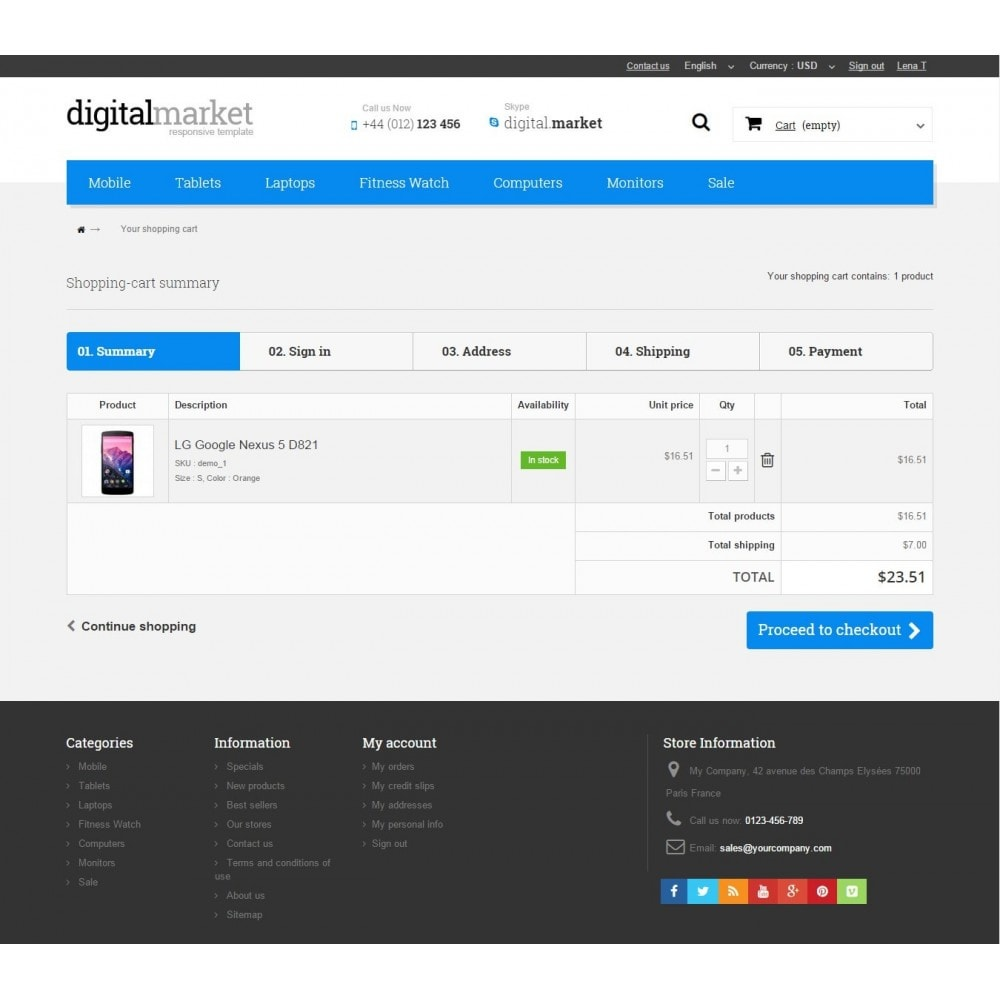 theme - Elektronik & High Tech - Digital Market Responsive Prestashop 1.6 Template - 9