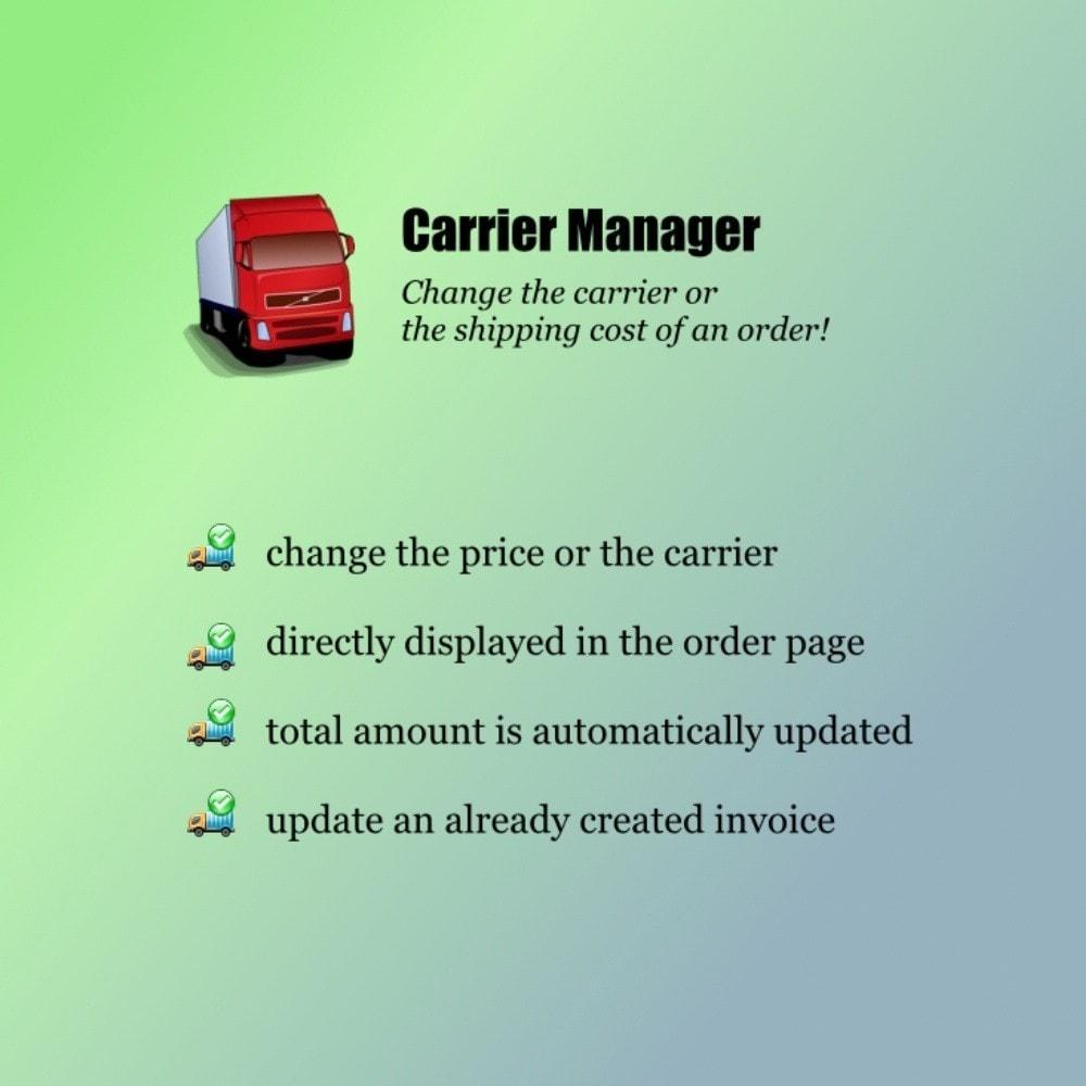 module - Transporteurs - Carrier Manager / Modifier le Transporteur - 1