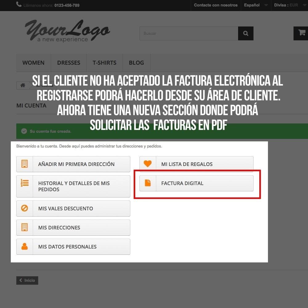 module - Contabilidad y Facturas - Factura Electrónica (cumplimiento normativa comercio) - 7