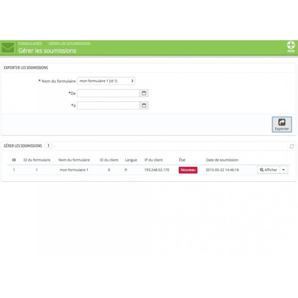 module - Formulaires de Contact & Sondages - Création de multiples formulaires personnalisés - 8
