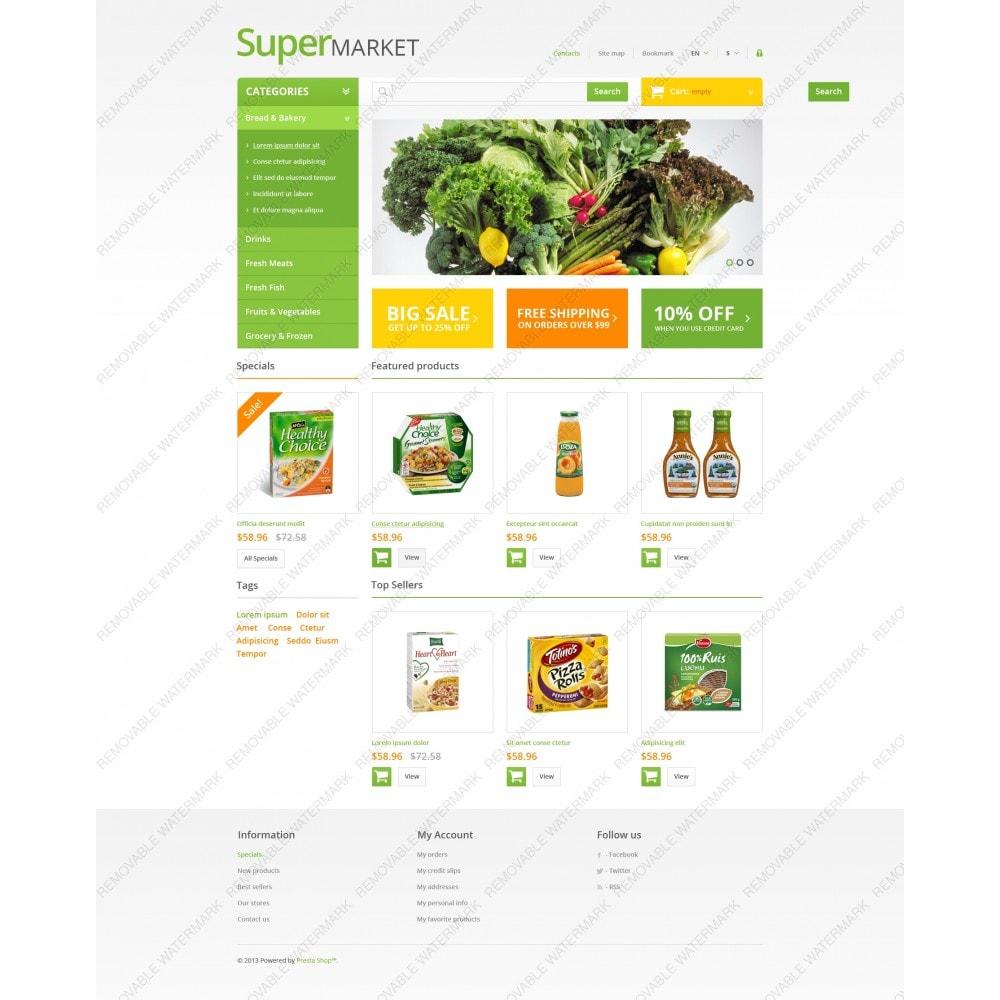 theme - Продовольствие и рестораны - Responsive Supermarket - 9