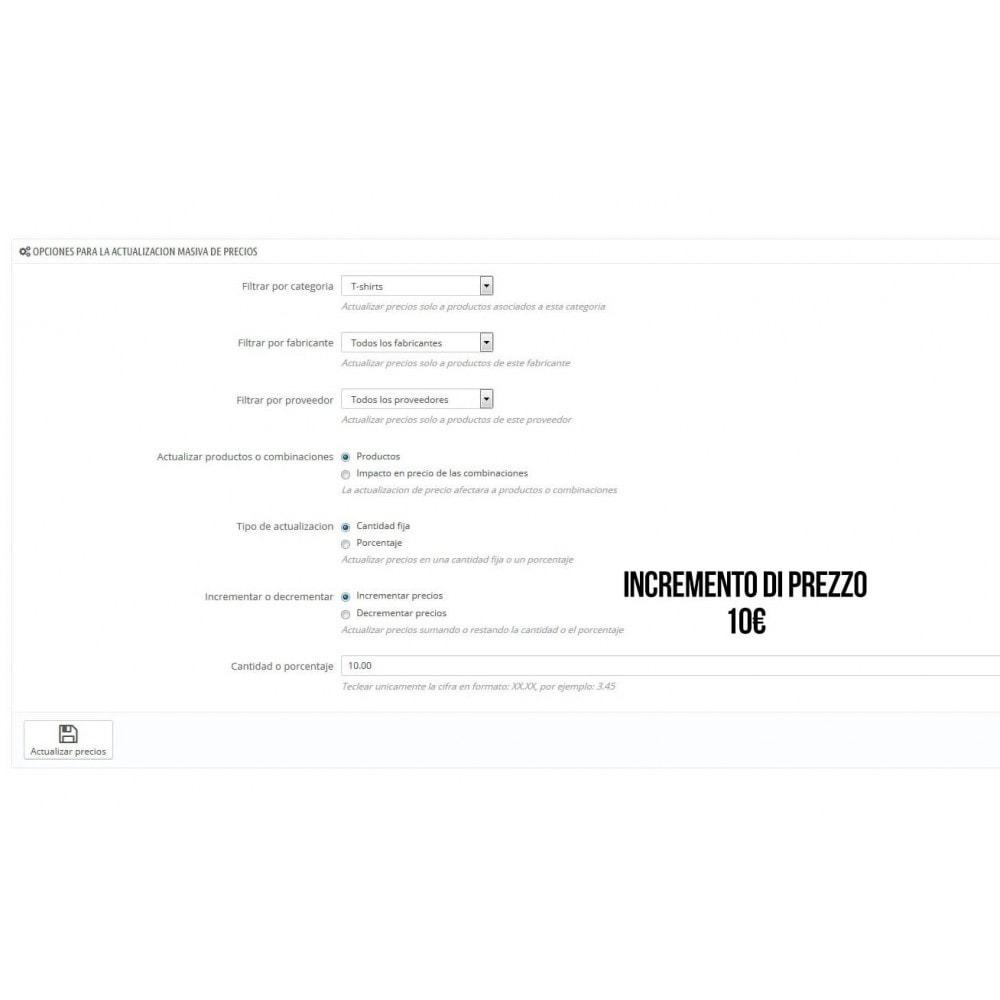 module - Modifica rapida & di massa - Modulo per l'aggiornamento massivo dei prezzi - 4