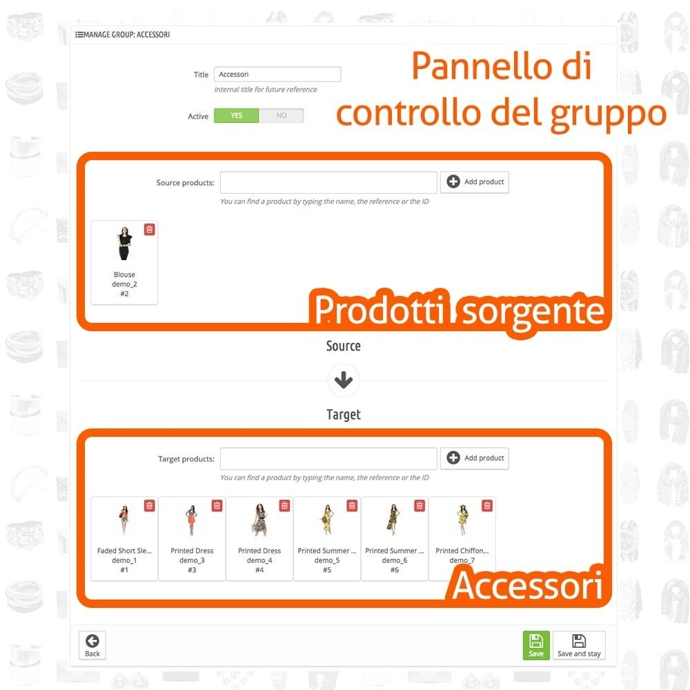 module - Modifica rapida & di massa - Fast and Easy Associazione Massiva Accessori - 3
