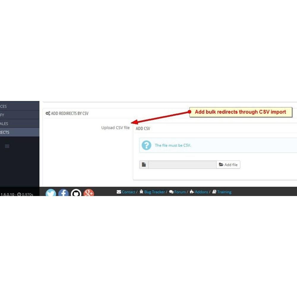 module - Gestão de URL & Redirecionamento - URL Redirects - 4