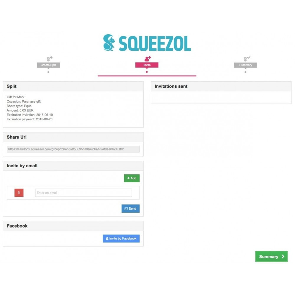 module - Autres moyens de paiement - Squeezol Split - Pay with Squeezol(split with friends) - 5
