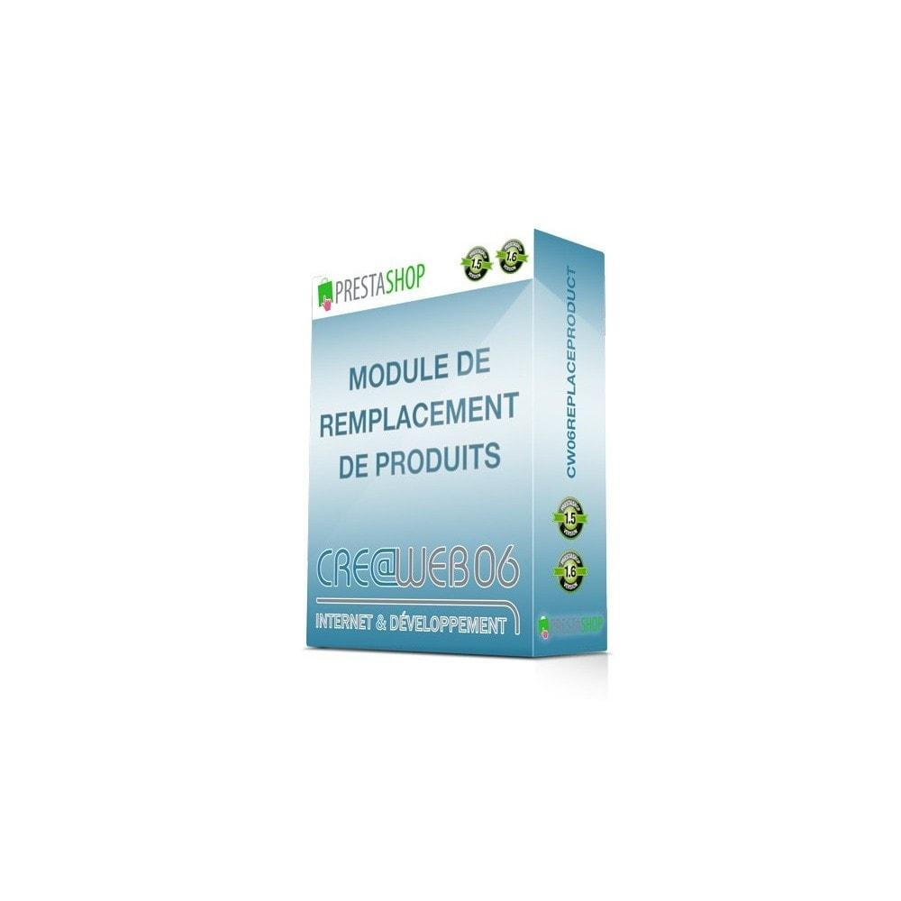 module - Ventes croisées & Packs de produits - Remplacement ou proposition de produits - 1