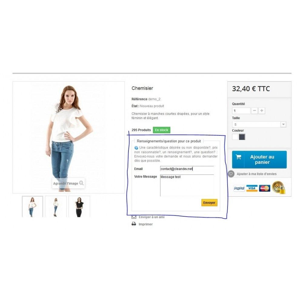 module - Formulaires de Contact & Sondages - Renseignements, questions, devis sur un produit - 4