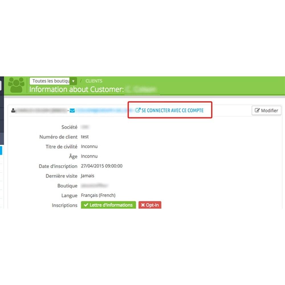 module - Service Client - Autologin permettant de s'auto connecter comme client - 2
