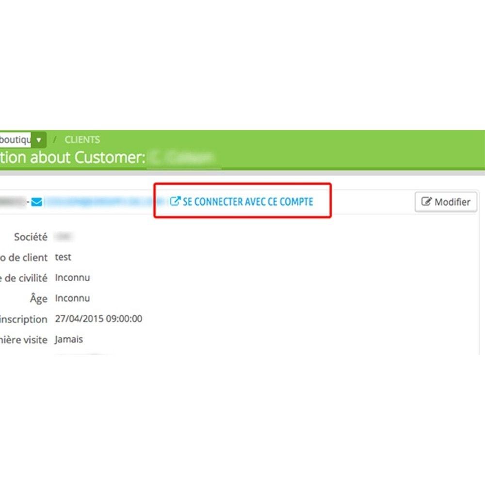 module - Service Client - Autologin permettant de s'auto connecter comme client - 3