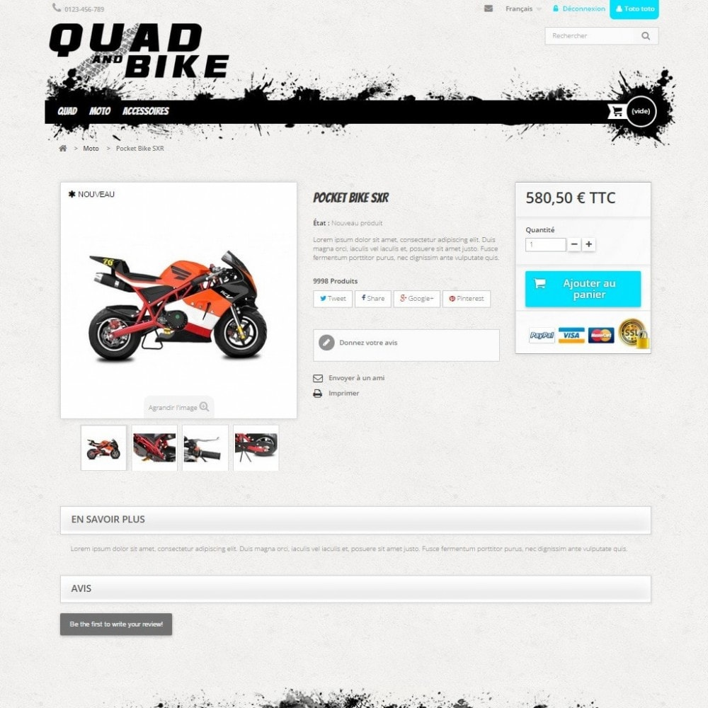 theme - Automotive & Cars - Quad and Bike - 3