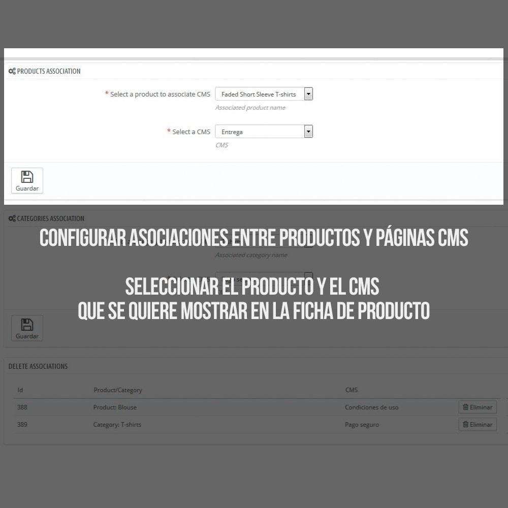module - Informaciones adicionales y Pestañas - Páginas CMS en pestaña de ficha de producto - 3