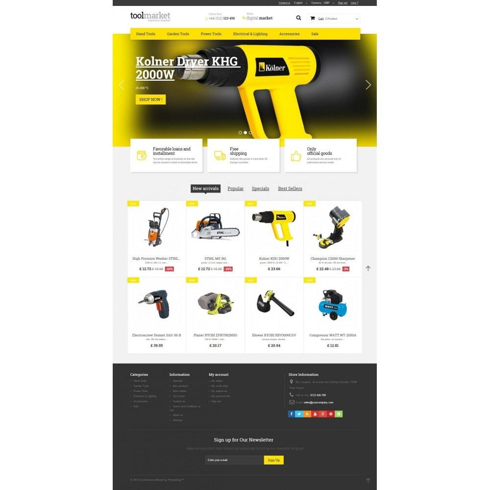 theme - Дом и сад - Tools Market Prestashop 1.6 Responsive Theme - 2