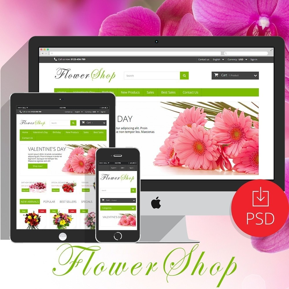 theme - Gifts, Flowers & Celebrations - FlowerShop - 1