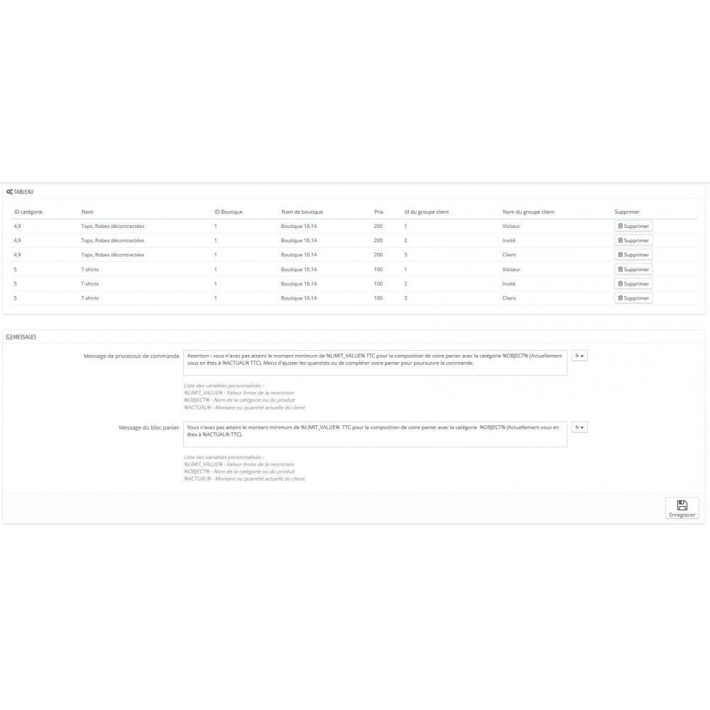 module - Inscription & Processus de commande - Règle de quantité et prix par groupe (min max multiple) - 3