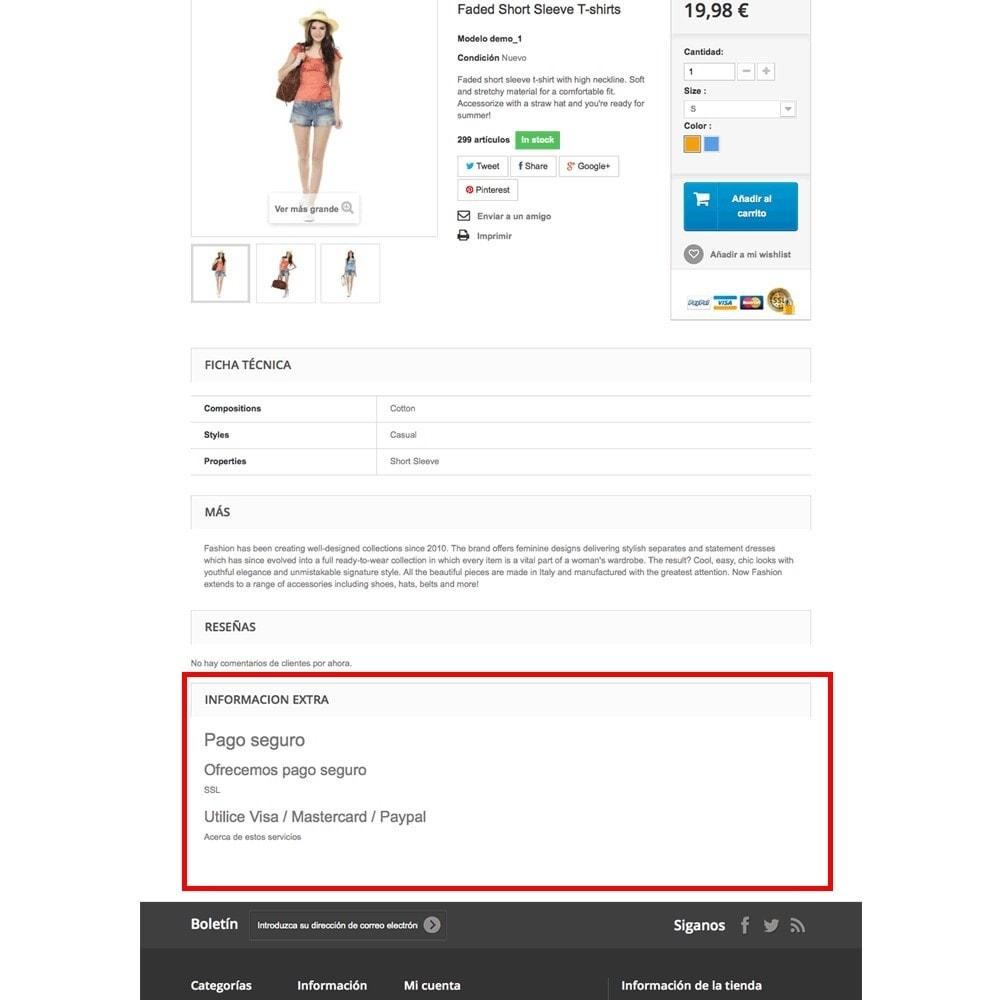 module - Information supplémentaire & Onglet produit - Pages CMS en onglets dans les fiches de produit - 6