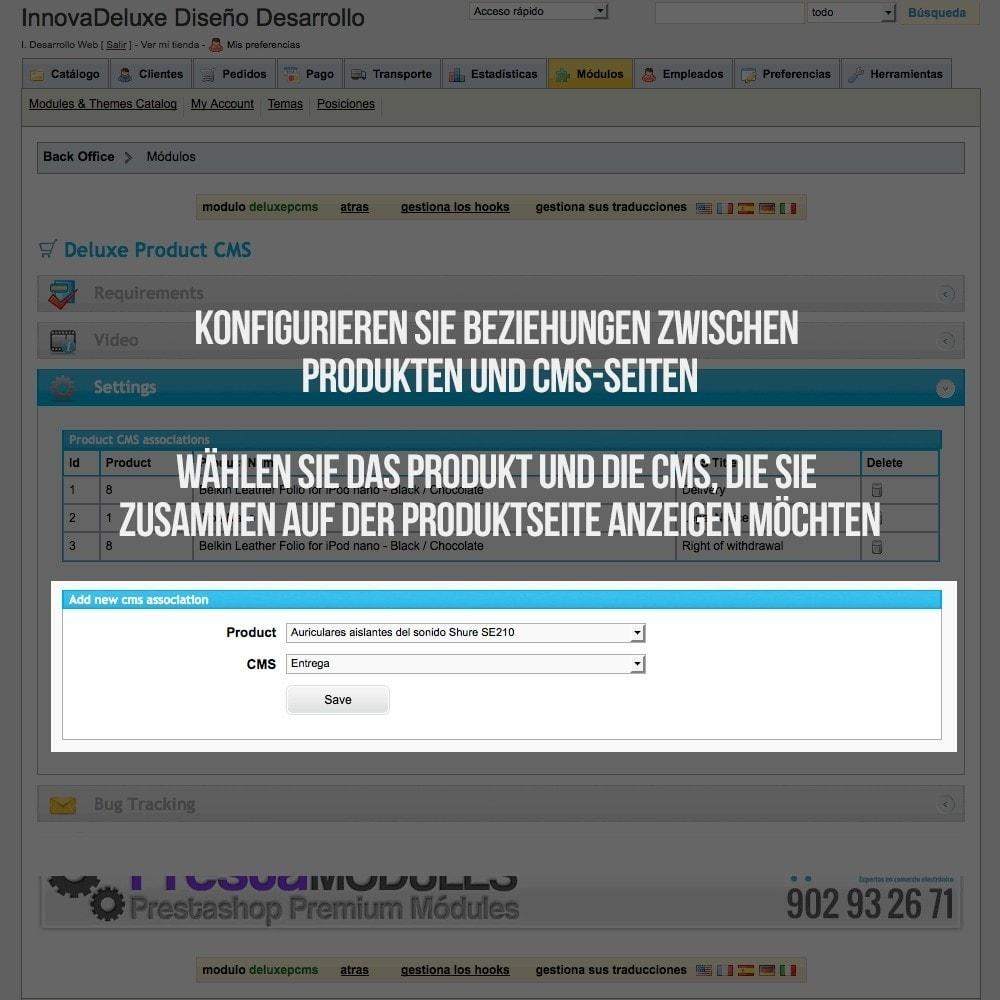module - Zusatzinformationen & Produkt-Tabs - Registerkarte CMS-Seiten - 2