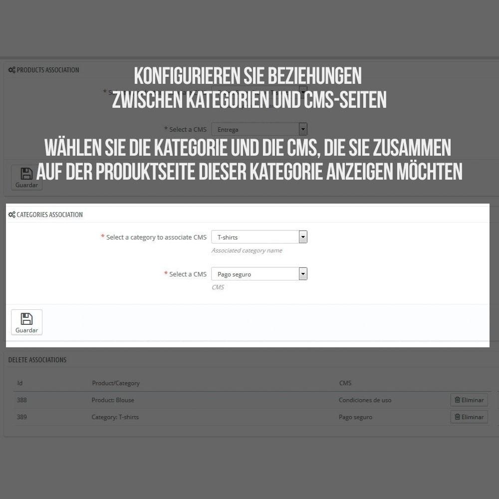 module - Zusatzinformationen & Produkt-Tabs - Registerkarte CMS-Seiten - 4