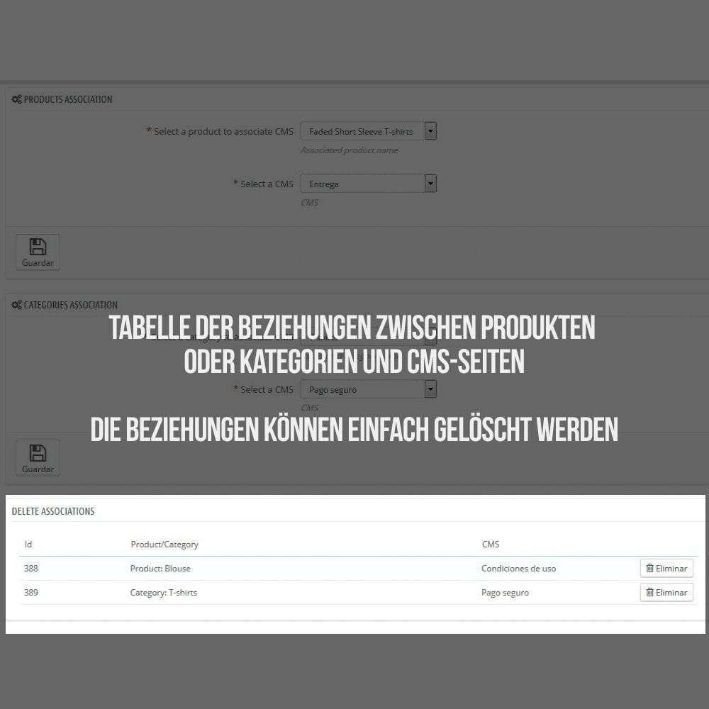 module - Zusatzinformationen & Produkt-Tabs - Registerkarte CMS-Seiten - 5