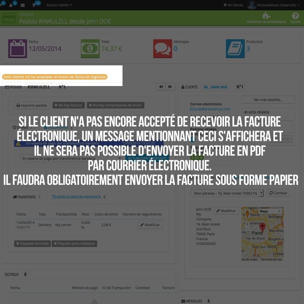 module - Comptabilité & Facturation - Facture électronique (réglementations commerciales) - 5