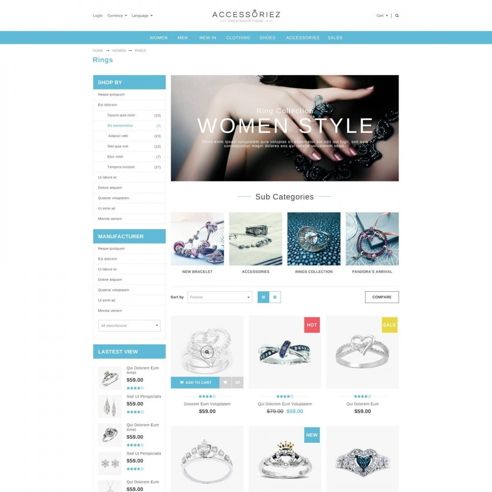 theme - Jewelry & Accessories - ET Accessories - Responsive Beauty & Jewelry PrestaShop - 2