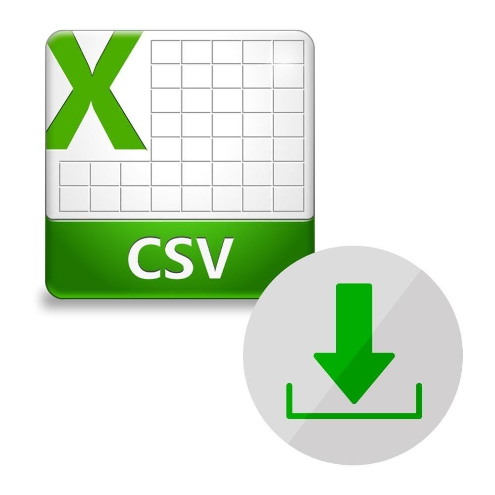 module - Importeren en Exporteren van data - CSV Export Catalog - 1
