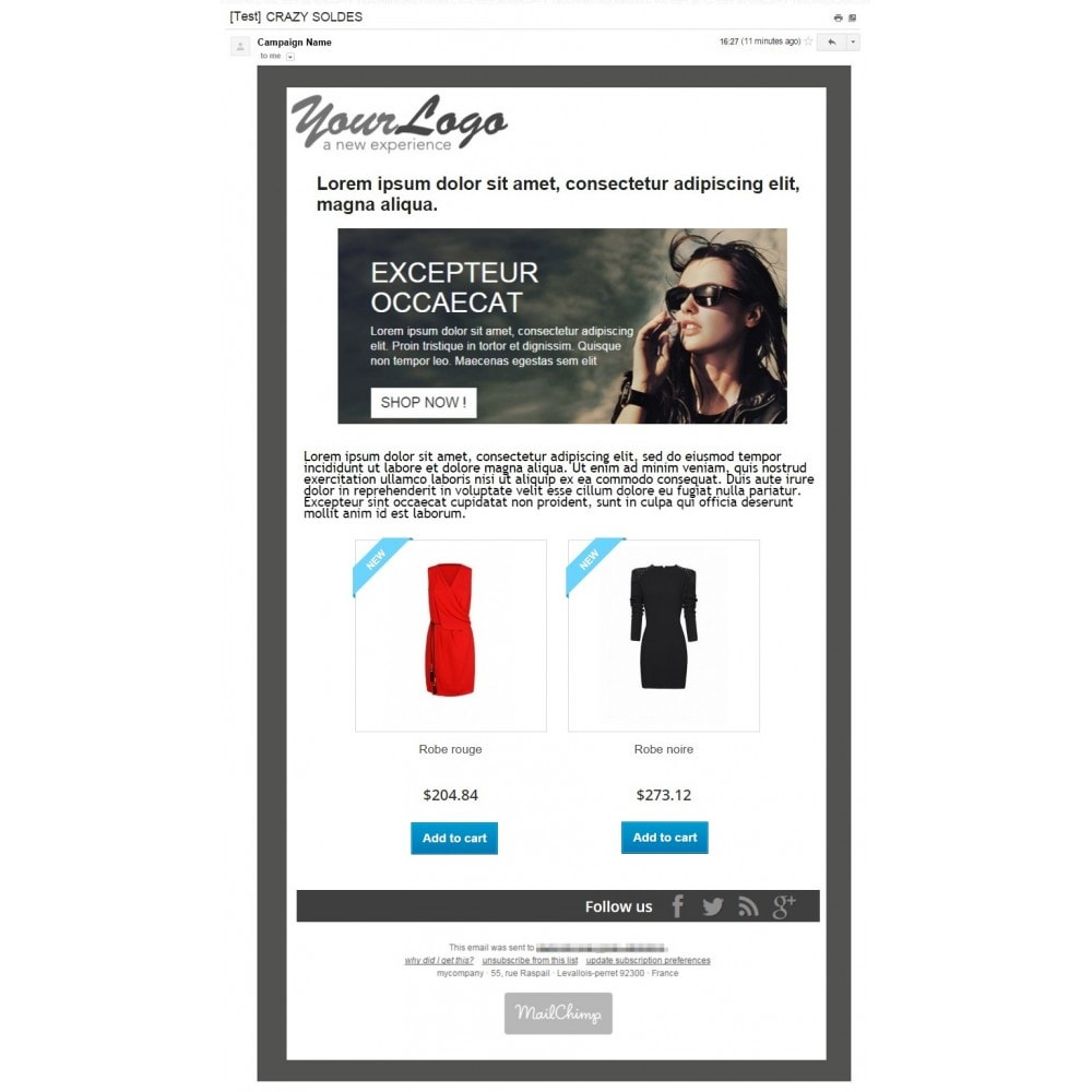 pack - Current offers – Make great savings! - Promo / Sales (Pack) : Newsletter Mailchimp + Top Banner - 2