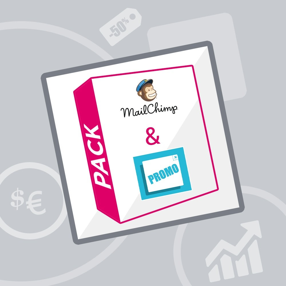 pack - Nuestras ofertas actuales - ¡Aprovecha y ahorra! - Promociones (Pack) : Boletines Mailchimp + Banner publicitario - 1