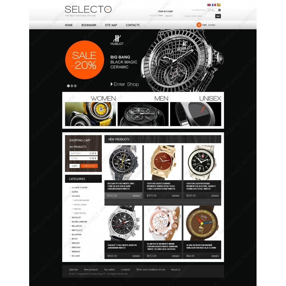 theme - Fashion & Shoes - Watches Online - 3