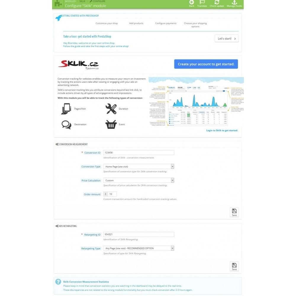 module - Analytics & Statistiche - Sklik - Conversion Measurement & Retargeting - 3